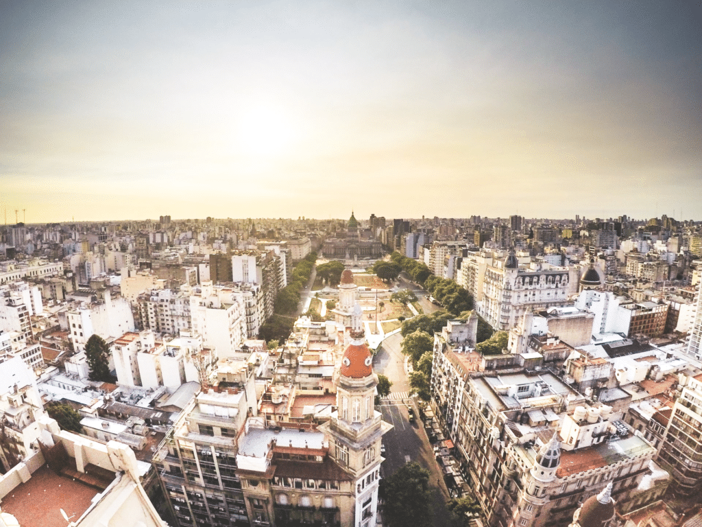 Bird view of Buenos Aires, Argentina