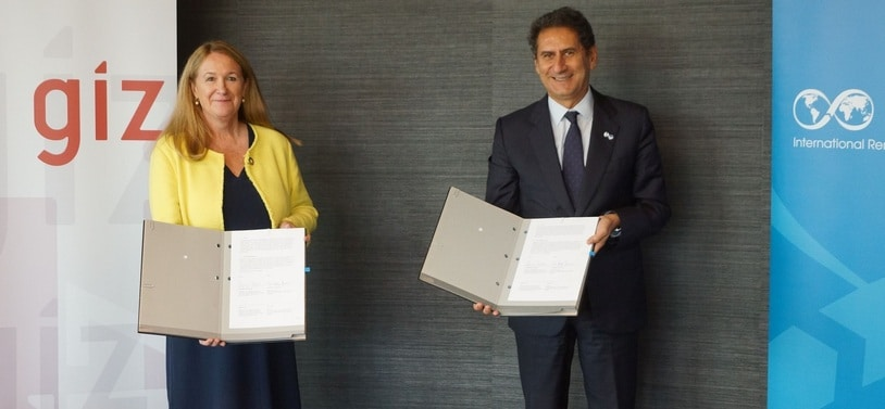 GIZ and IRENA signed a new partnership agreement on 23 September, 2021.